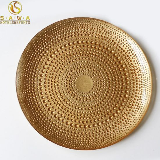 China Wholesale Wedding Underplate Plastic Plate For Reception