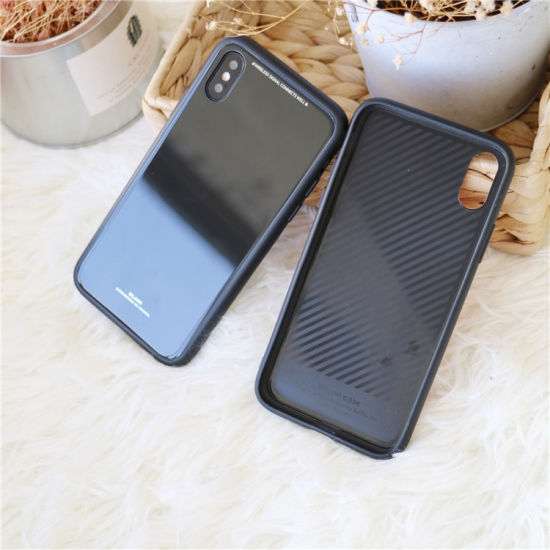 apple iphone xs plus case with anti scratch tempered glass
