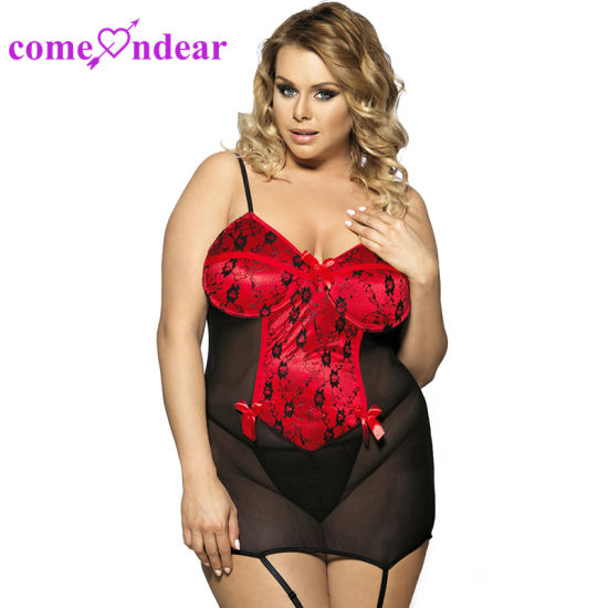 e7d77f2352d Plus Size on Sale Cupless Bustier Fat Women Sexy Lingerie Showing Nipples
