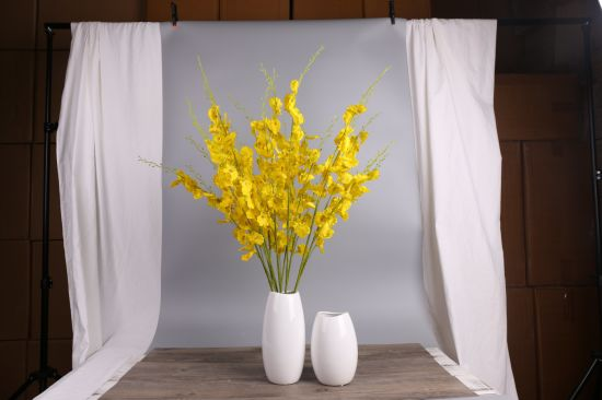 China fake dancing orchid flower silk artificial flower artificial fake dancing orchid flower silk artificial flower artificial yellow flower for indoor decoration and wedding mightylinksfo