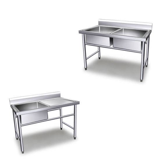 China Kitchen Working Table With SinkKitchen Stainless Steel Sink - Stainless steel work table with sink