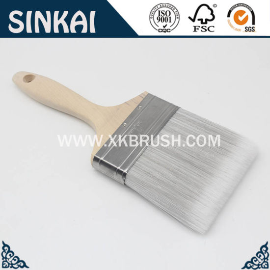 China Top Quality Flat Artist Bristle Paint Brush pictures & photos