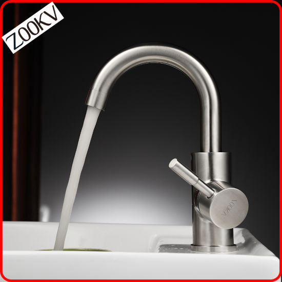 High Quality Factory Price Stainless Steel Sanitary Ware Washingroom Tap Bathroom Sink Faucet Single Lever Basin Mixer