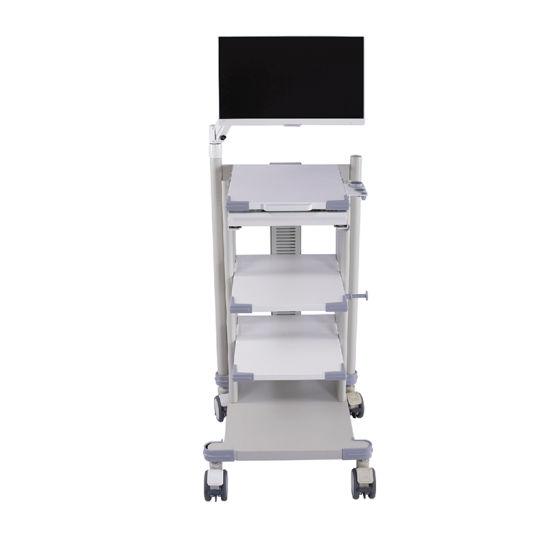 Hospital Mobile Endoscopy Cart Instrument Trolley Medical Device Endoscope Cart