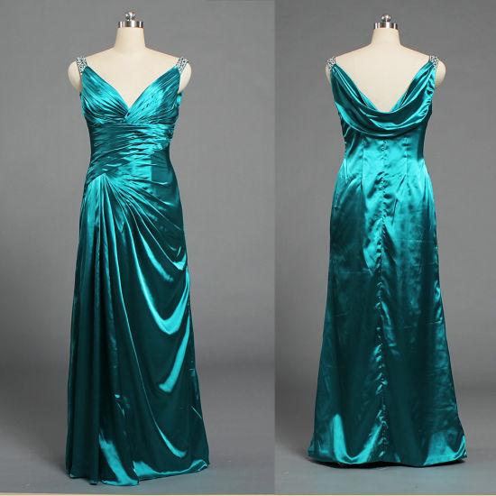 Ladies Sleeveless Straps Satin Long Celebrity Maxi Dresses E525
