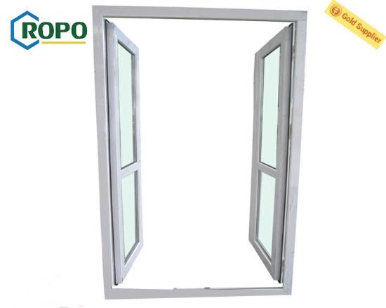 China Exterior Front Glass Double Door Design Upvc French Door