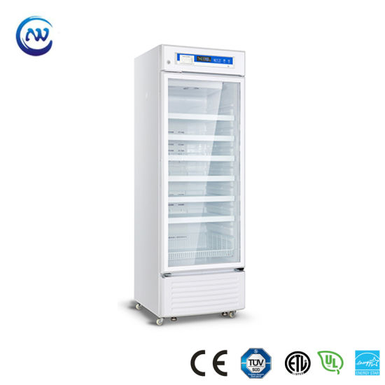 2º C~8º C Upright Pharmacy Medical Refrigerator for Pharmacy and Laboratory