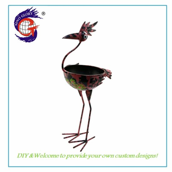 Wholesale Metal Fox Animal Planter Flower Pot for Outdoor Garden Decor