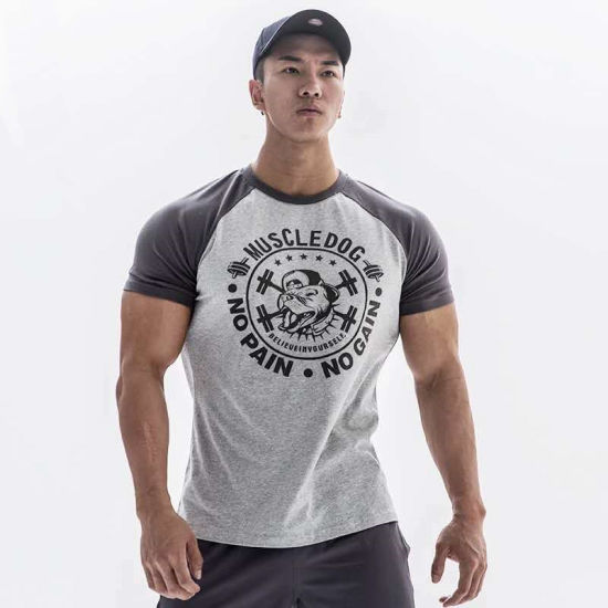 Fashion Outdoor Custom Slim Fit Men Clothing Gym Fitnesst-Shirt