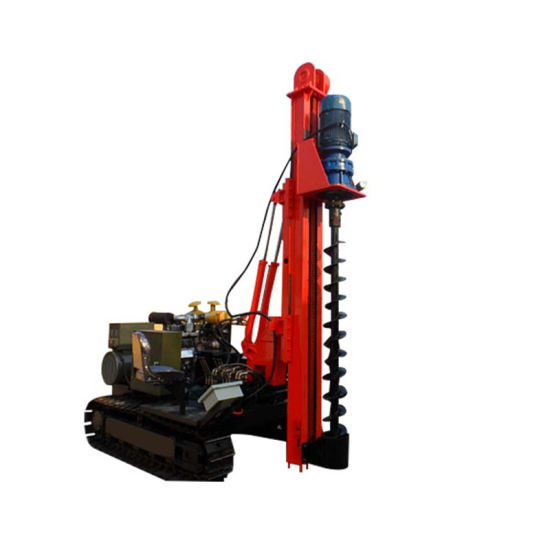China Ground Screw Drilling Machine Crawler Spiral Pile