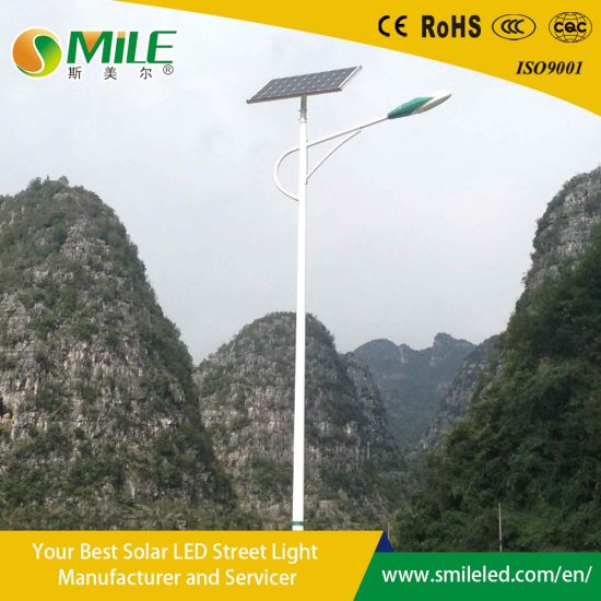 Factory Direct Wholesale 6m Pole 30W LED Solar Street Light Outdoor Lighting