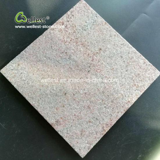 Natural Flamed Pink Sparked Quartzite Tile