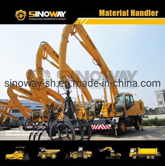 Wheeled Material Handling Equipment Knuckle Boom Grabbing Crane for Sale pictures & photos