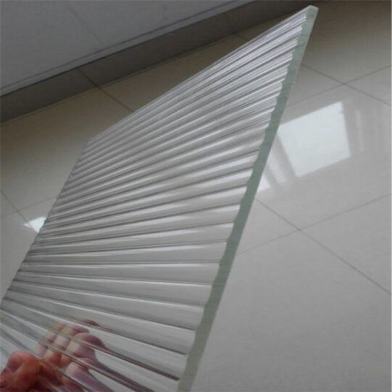 3mm 4mm 5mm 8mm 10mm Ribbed Patterned Reeded Rolled Glass with Moru Stripe Glass for Decoration