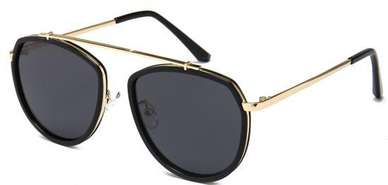 Fashion Oval Sunglasses, Flexible Bridge Eyewear Frame