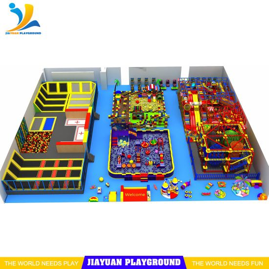 Indoor Playground Equipment with EPP Block Toys House for Trampoline Park