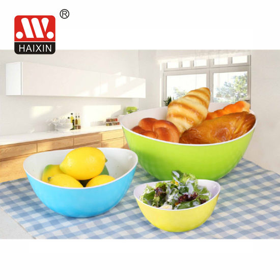 Haixing Newest Two Color Plastic Bowl for Tableware and Dinner