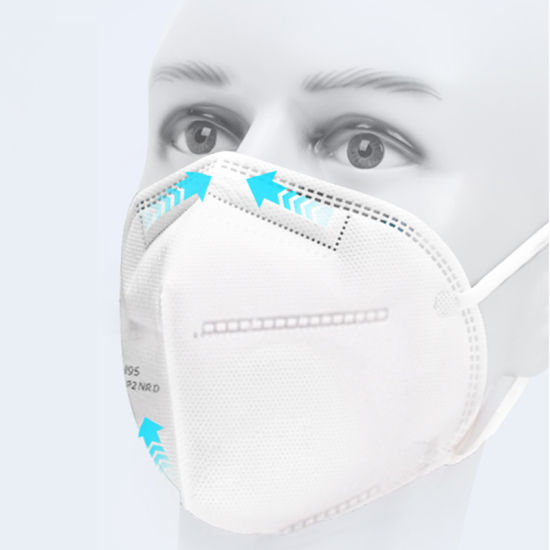 Personal Protection in Stock Non Woven Melt-Blown Mask Kn95 Ffp2 for Dustproof