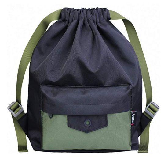 Hot sale Boys /& Girls Drawstring Gym Bag Backpack Bookbag Wholesa FREE