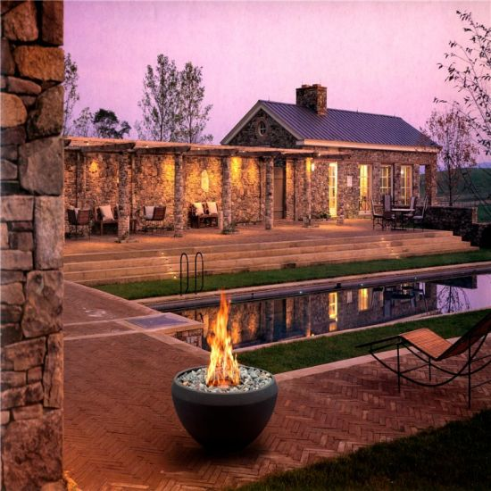 China Free Standing Indoor Outdoor Ethanol Garden Fireplace