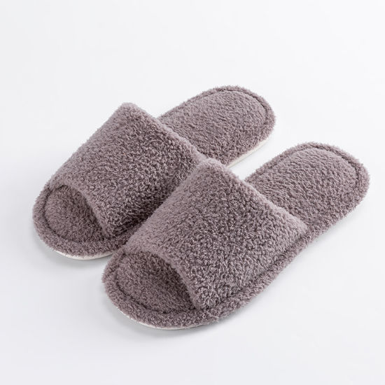 Winter Women House Slippers Faux Fur Warm Flat Shoes Bedroom Female Non Slip Home Slippers