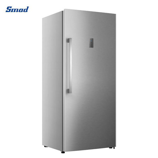 Smad Home Appliance 590L Home Kitchen Freestanding Cold Frost-Free Fan Cooling Vertical Stainless Steel Upright Deep Fridge Freezer with Big Drawer