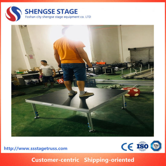 High Quality Event Portable Adjustable Aluminum Simple Stage for Performance Show