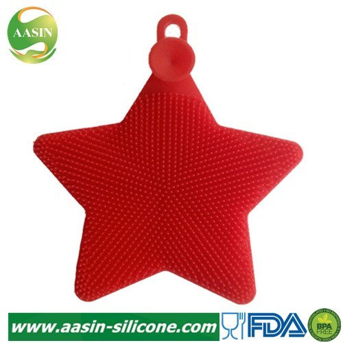 Pentagram Shape Creative Silicone Dishwashing Brush