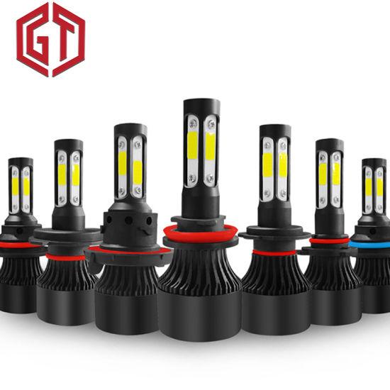 New 4 Side Lumens COB 100W 10000lm H4 Hi Lo H7 H11 9005 9006 Car LED Headlight Bulbs Auto LED Headlamp LED Light 12V 24V