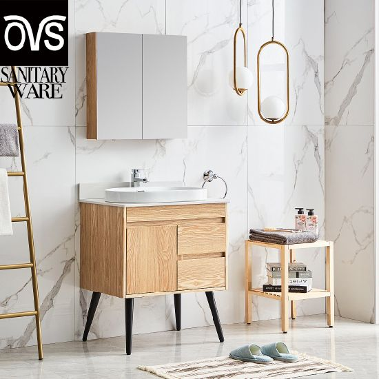 China Small Plywood Bathroom Vanity, Small Bathroom Sinks With Cabinet