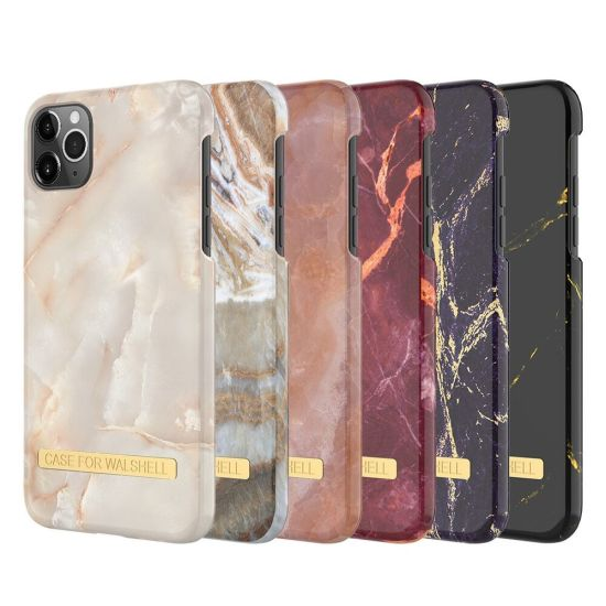 OEM Factory Mobile Phone Water Paste PC Case with Gold Metal Strip for iPhone 11 PRO Max