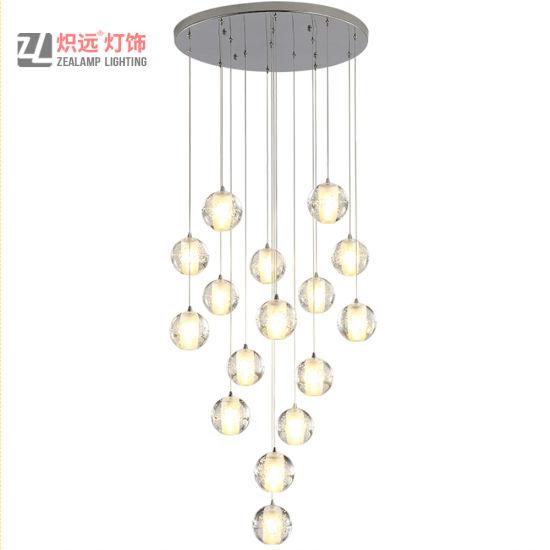China Modern Lighting For Hotel Glass, Glass Bubble Chandelier Lighting