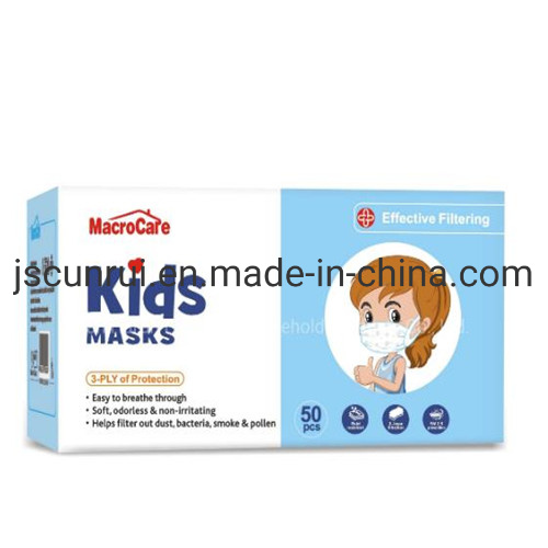 3 Ply Ear Loop Disposable Protective Clothing Kids Kn95 Face Shield Mask