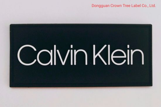 Calvin Klein 3D Printing Silicone Label for Garment Accessories
