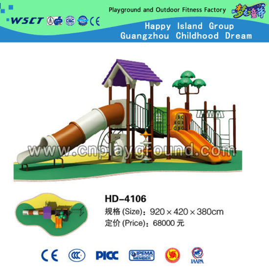 Guangzhou Factory Sales Outdoor Playground Equipment for Children (HD-4106) pictures & photos