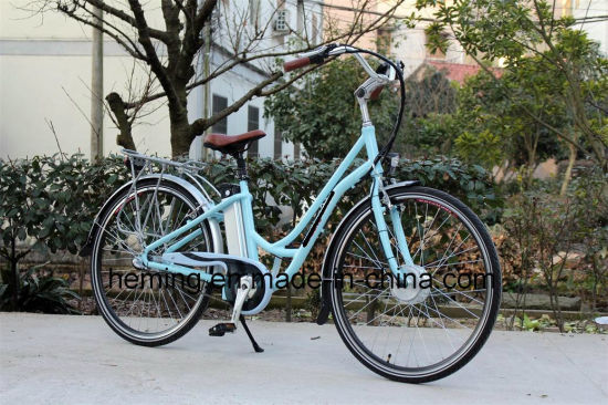 "28"" Inch City Electric Bike with Shimano 3 Speeds pictures & photos"