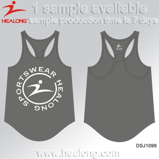 Healong Personalized Designer Dye Custom Sportswear Sublimation Singlet pictures & photos
