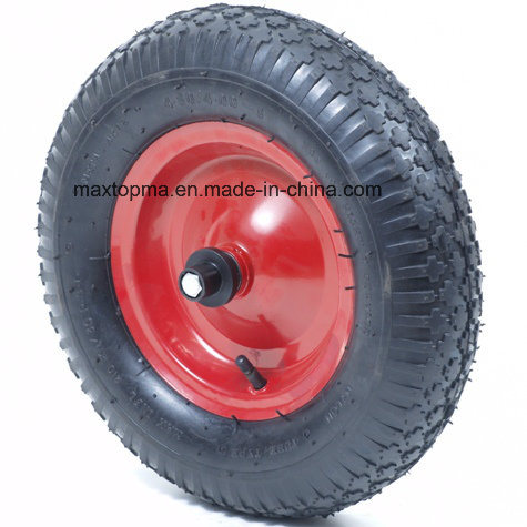 Maxtop Air pneumatic 400-4 Rubber Wheel pictures & photos