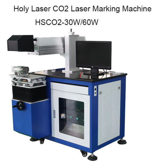 30W/60W CO2 Laser Marking Machine for Nonmetal Material pictures & photos