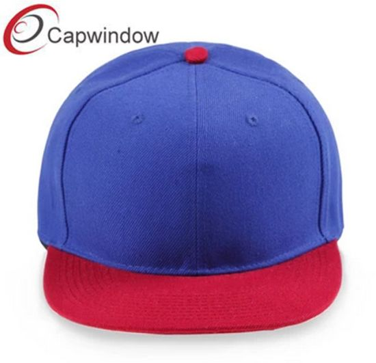 f99179e0756 China 6 Panel Blue   Red Acrylic Blank Snapback Cap (01124) - China ...