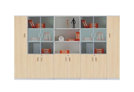 Simple Style Aluminum Glass Door Office Filing Storage Cabinet pictures & photos