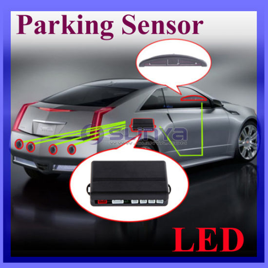 Car LED Parking Sensors Reverse Backup Radar Monitor System with Backlight Display + 4 Sensors 6 Colors Wholesale pictures & photos