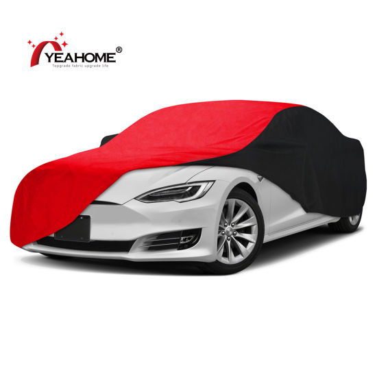 Patchwork Color Outdoor Covers Fleece Inner Lining Waterproof Auto Car Cover