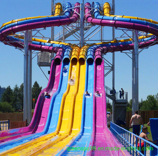 6 Chutes Octopus Racer Water Slide of Aqua Park Facility (WS-080)