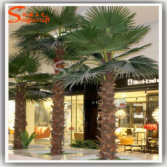 Hotel Decoration Plants Artificial Washington Palm Tree Customized Tree
