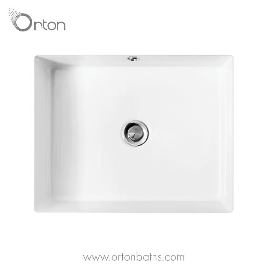 China Ceramic Rectangular Undermount Bathroom Sink With Overflow China Wash Basins Bathroom Sinks
