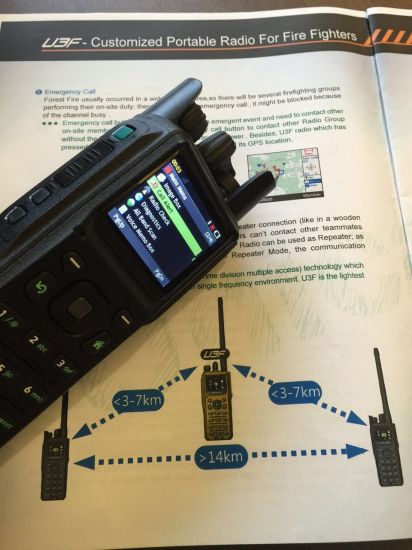 China Tactical Military Handheld Radio Transceiver in 37