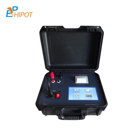 300A Portable Micro Ohm Meter Loop Resistance Contact Resistance 100A, 200A, 300A Circuit Breaker Tester for High Voltage Switchgear Touch Screen LCD