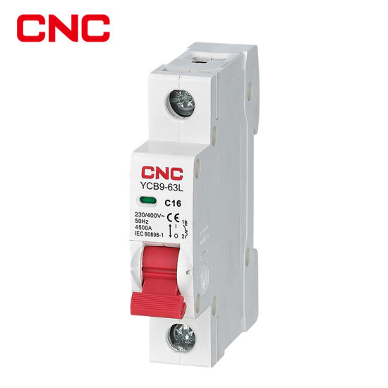 CNC Ycb9-63 C63 6ka Low Voltage MCB Mini Circuit Breaker with 1-4p 220V Automatic MCB 63A