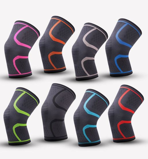Nylon Elastic Sports Knee Pads Breathable Support Knee Brace Running Fitness Hiking Cycling Knee Protector